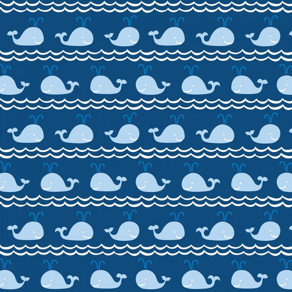 True Blue by Ana Davis - Mini Whales Blue