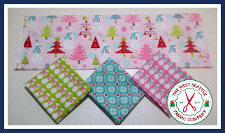 Pastel Snowman in Blue Fat Quarter Bundle