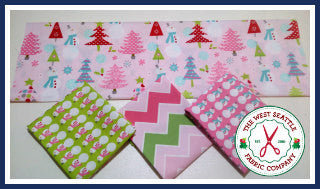 Pastel Snowmen in Pink Fat Quarter Bundle