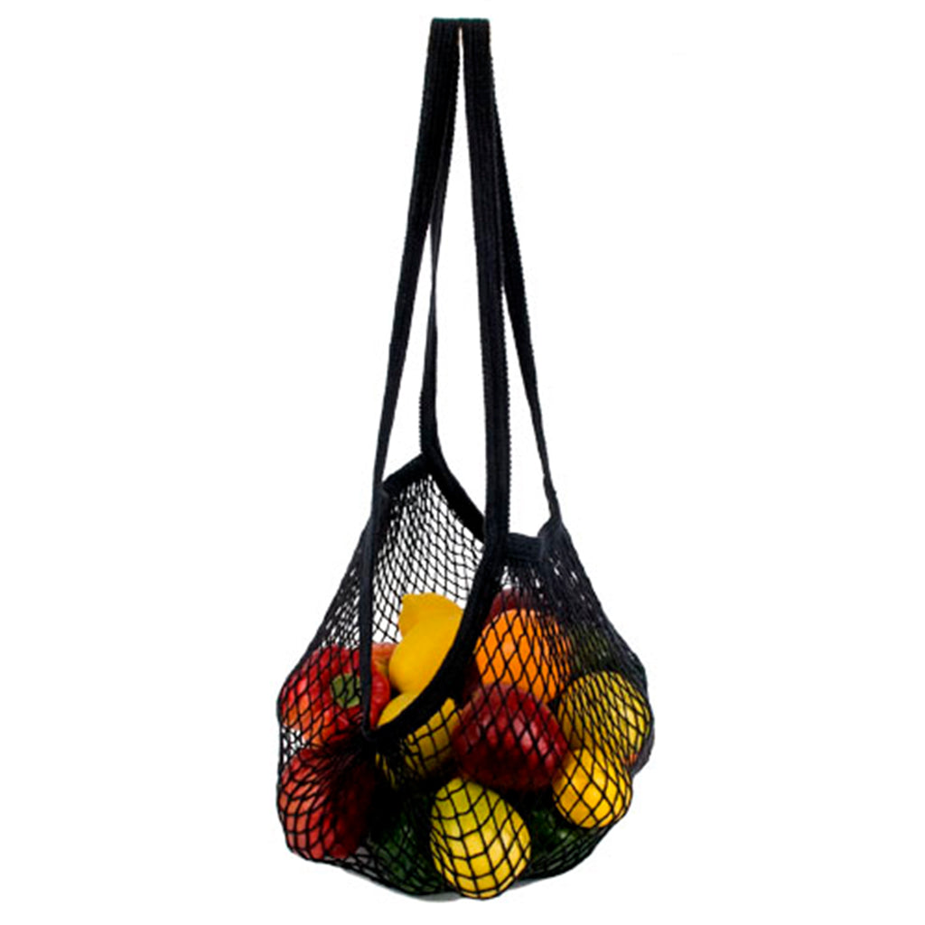 Natural + Black String Market Bags
