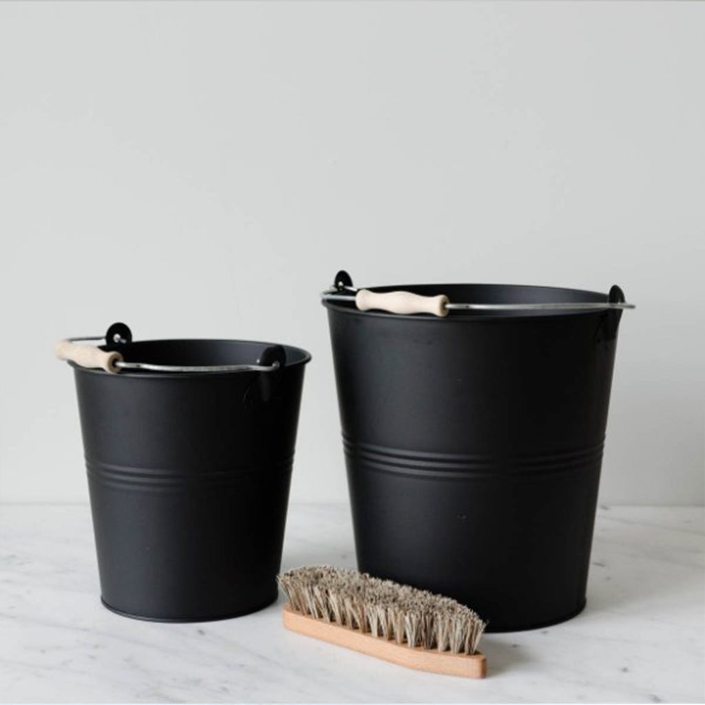 Black Galvanized Metal Wash Buckets