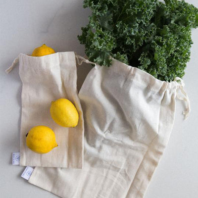 Natural Cotton Bulk Bags - Medium and Large