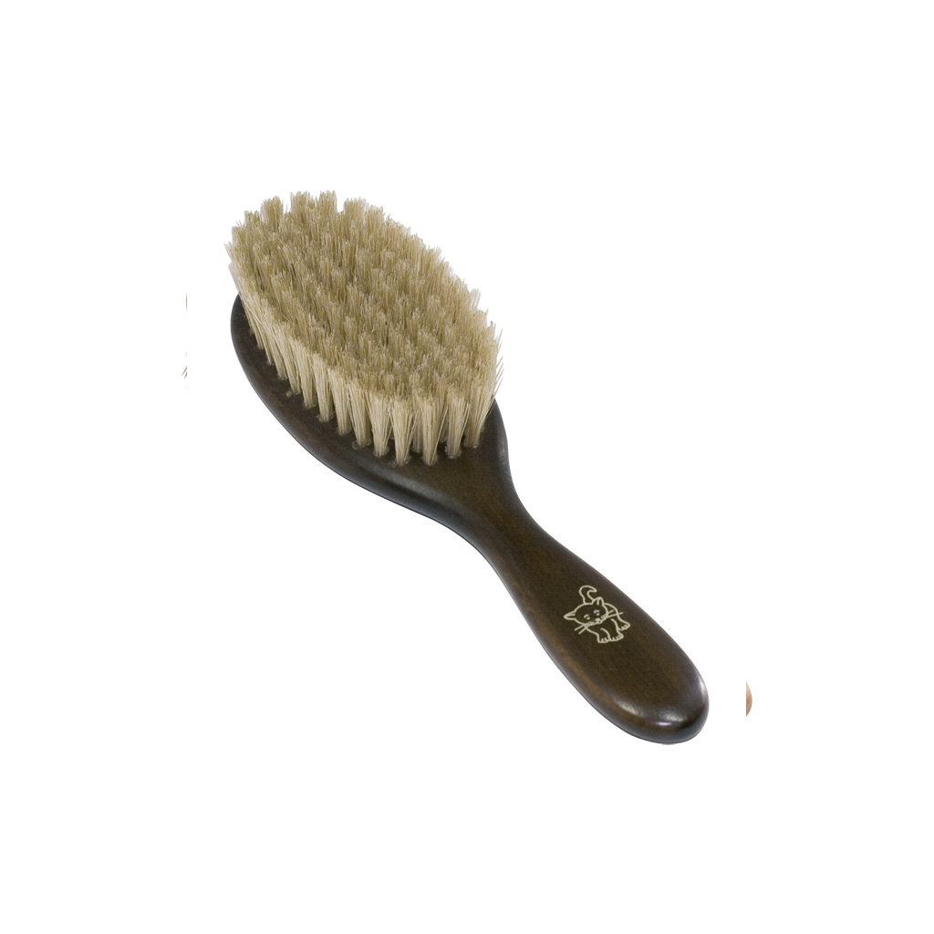 Natural Wood Cat Brush