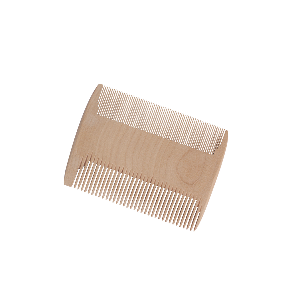 Checker Wood Fine-Tooth Comb