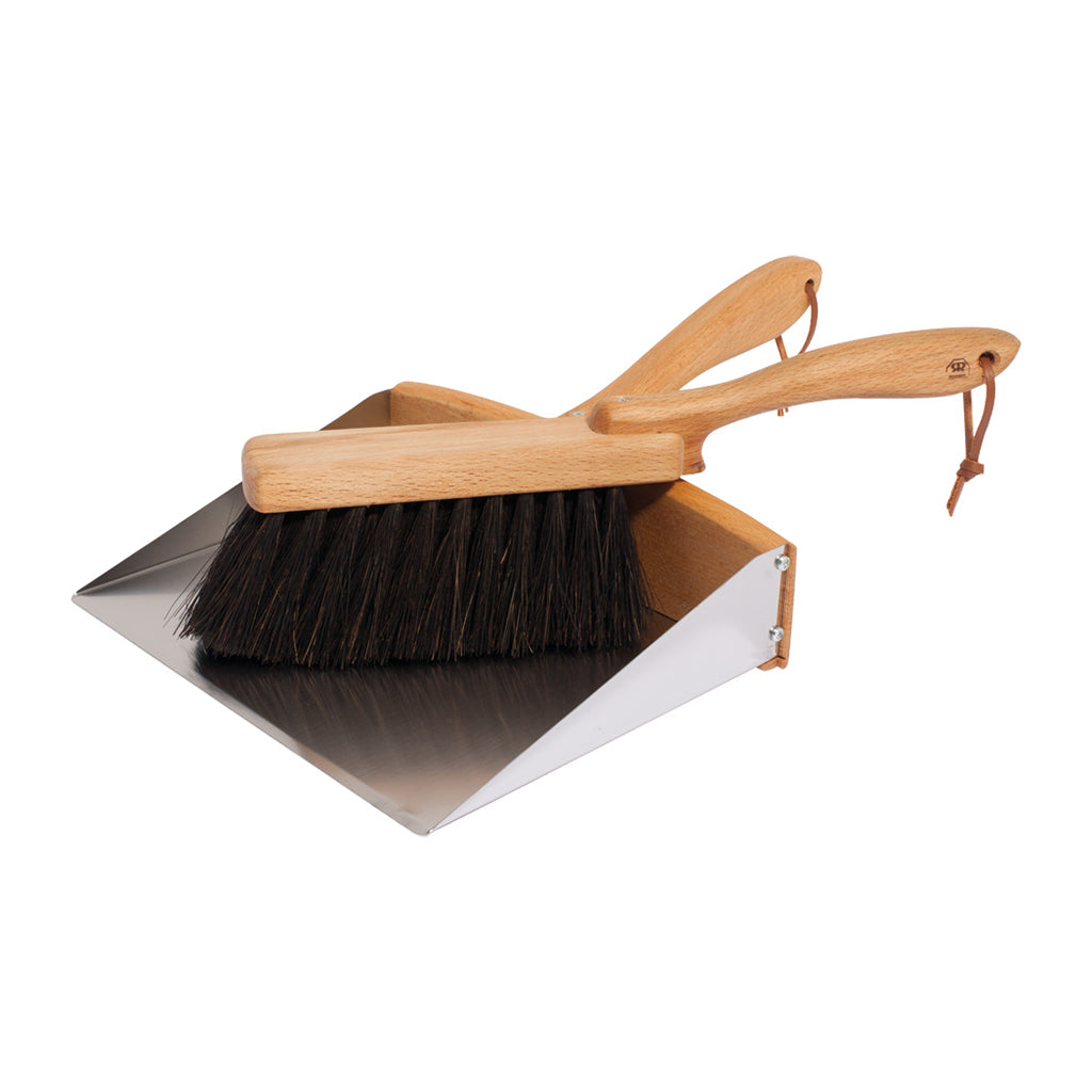 Dustpan + Plant Fiber Handbrush Set