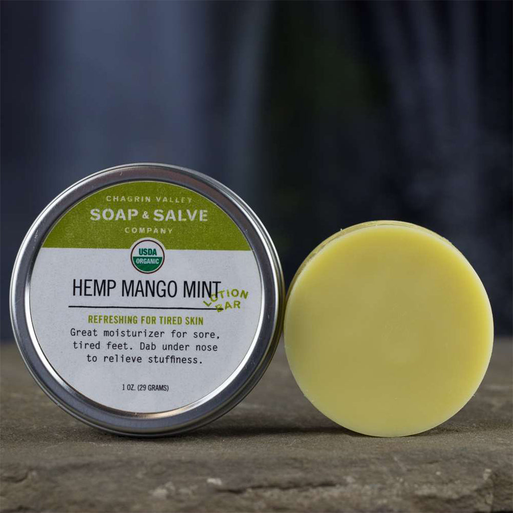 Hemp Mango Mint Lotion Bar