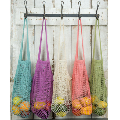 Pastel Colored String Market Bags