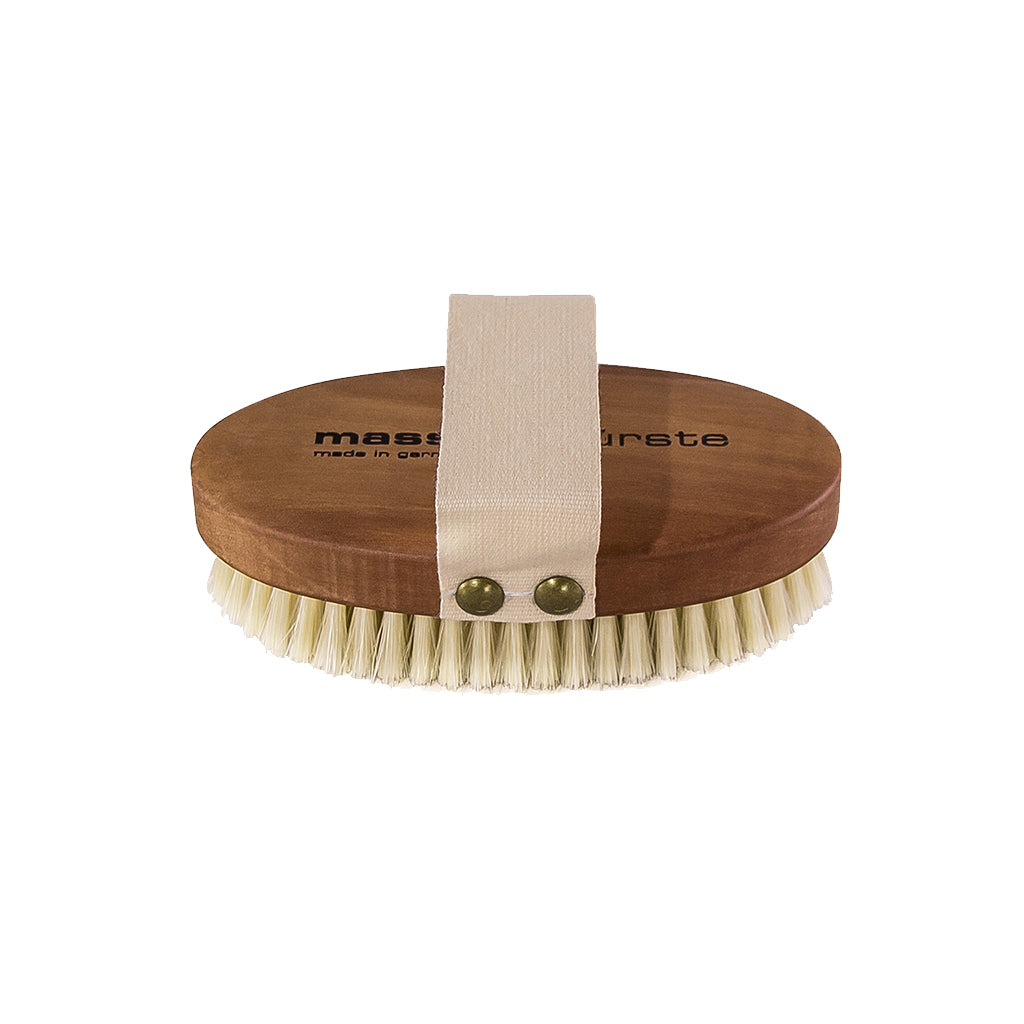 Oiled Pearwood Dry Body Massage Brush