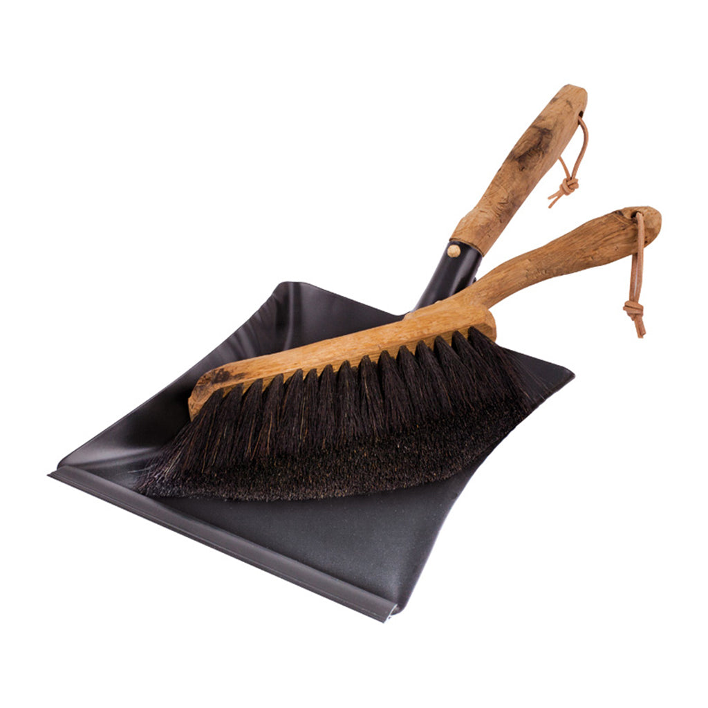 Vintage Dustpan + Brush Set