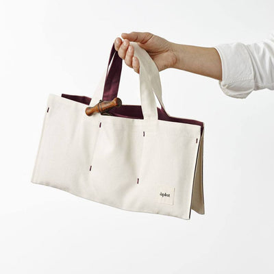 Horizontal Wine Tote with Three Pockets