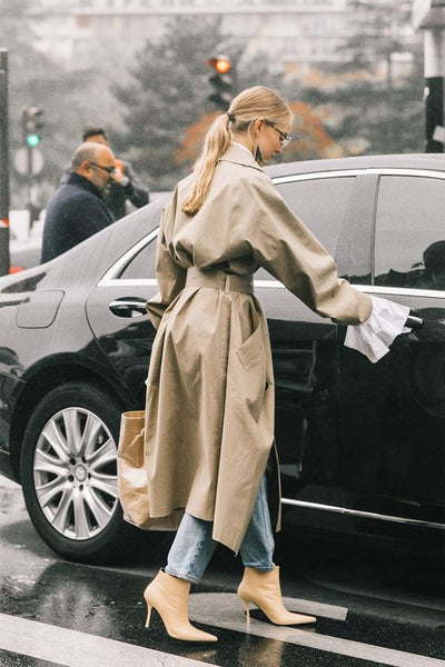 Stylish trench coat look