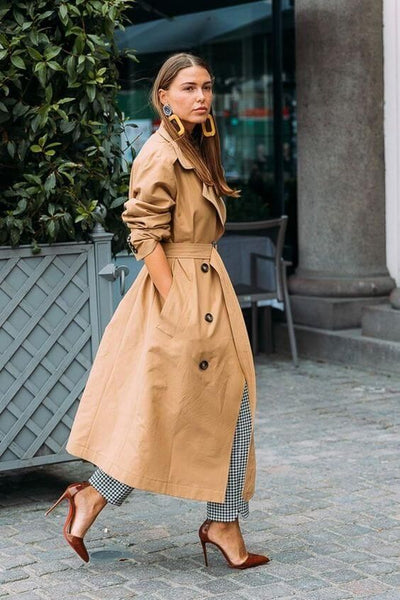 Vintage trench coat look