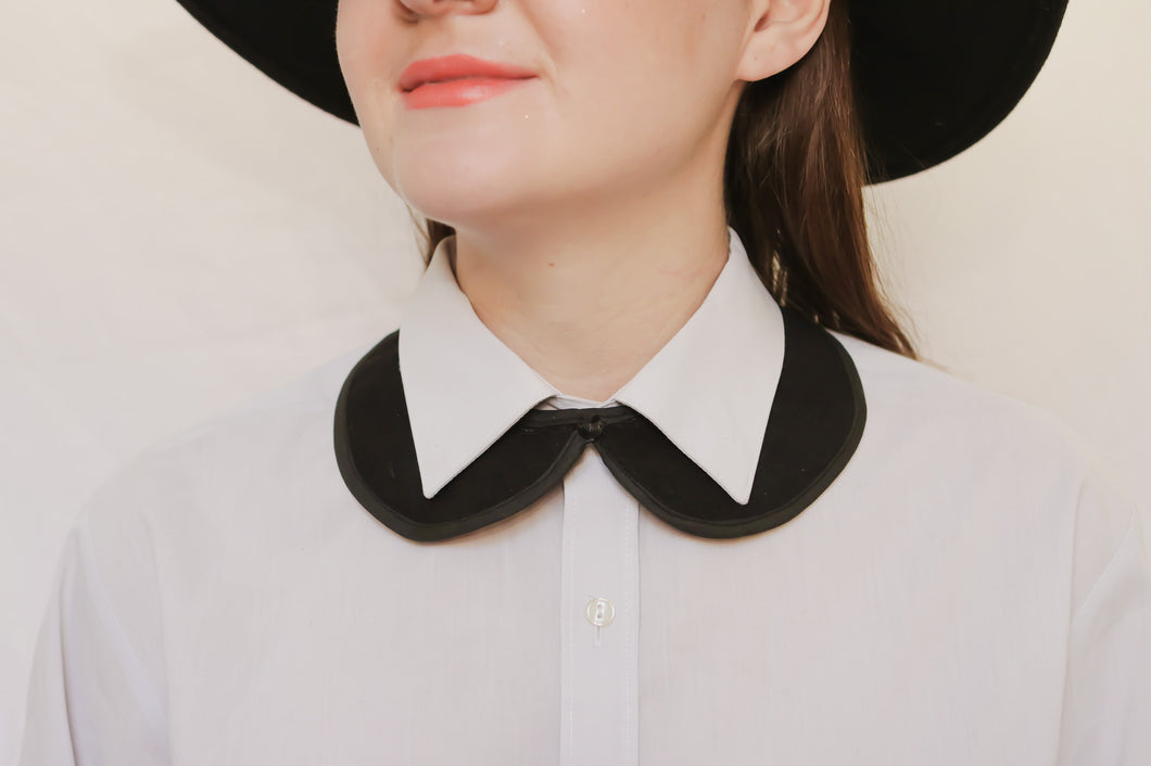 Black Peter Pan Collar necklace