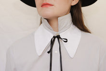Exaggerated cotton collar necklace