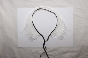 Collar Necklace - White Lace