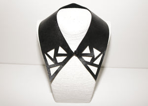Faux leather collar