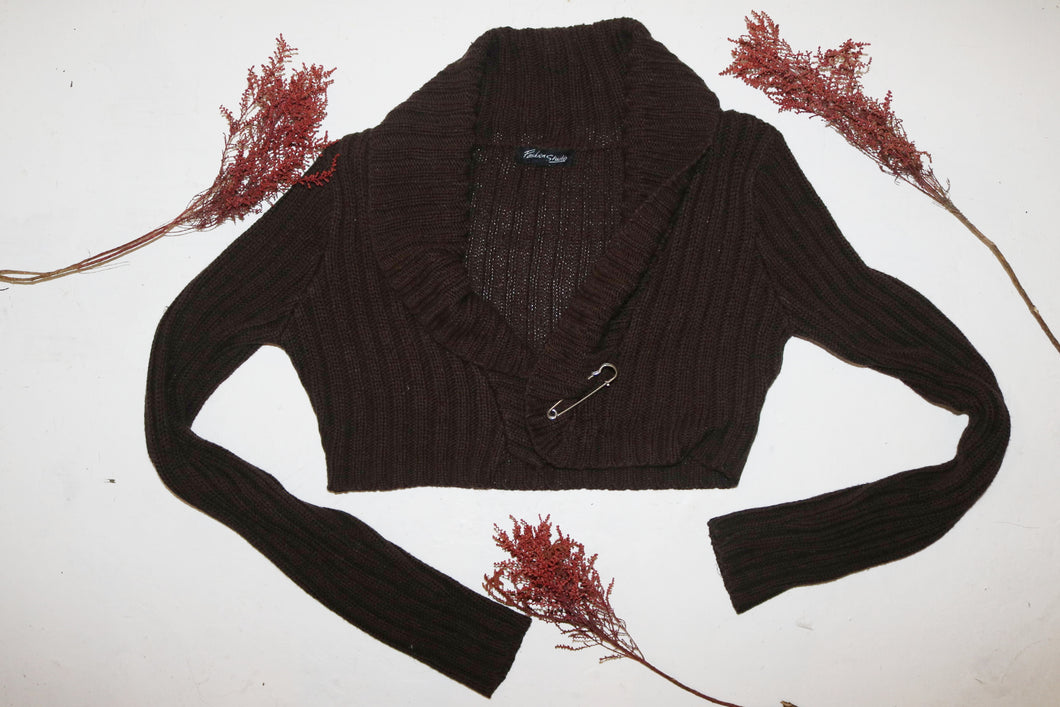 Crop thick knit sweater SIZE 8