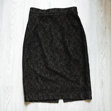 Vintage black lace pencil skirt SIZE 8