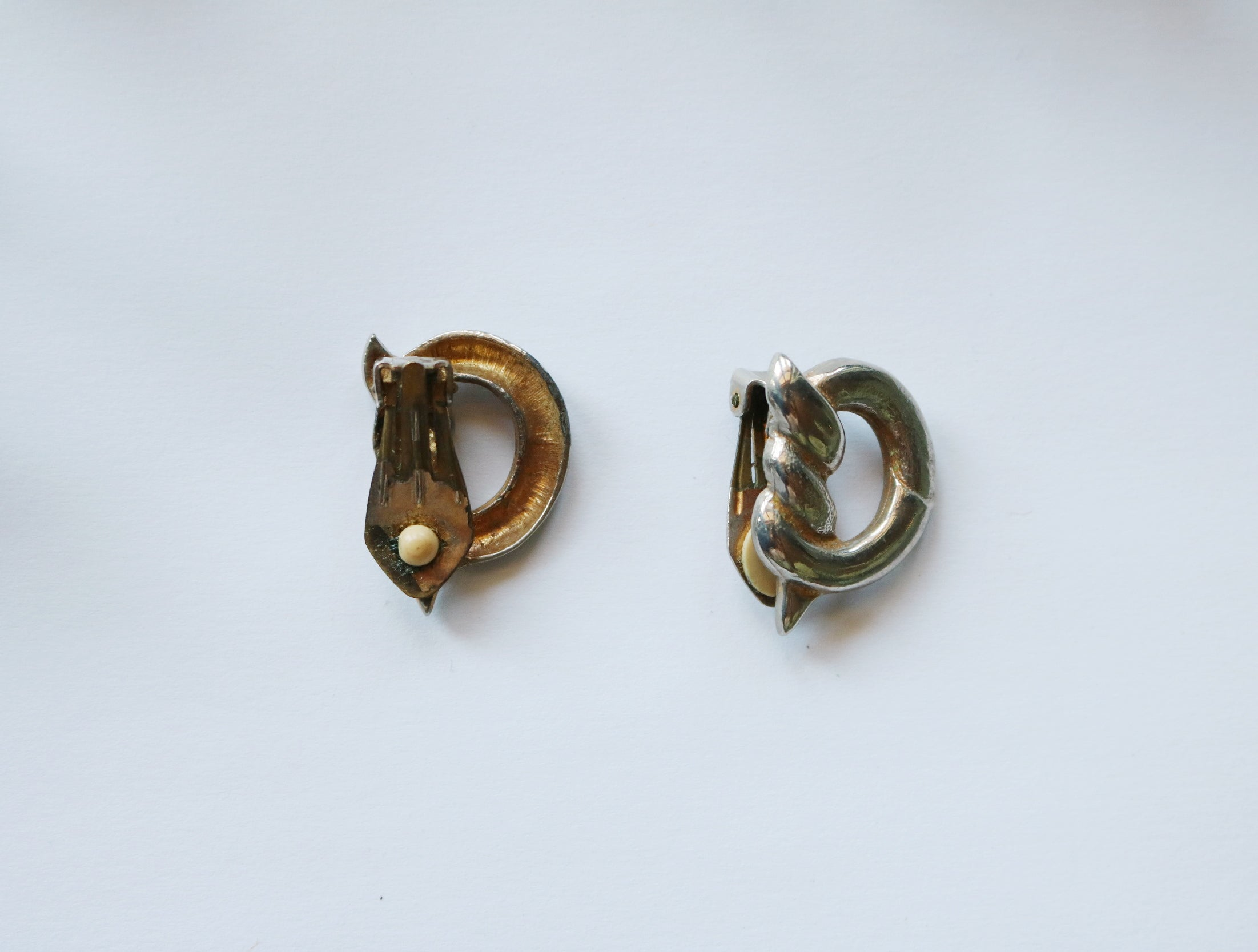 Vintage knotted clip on earrings