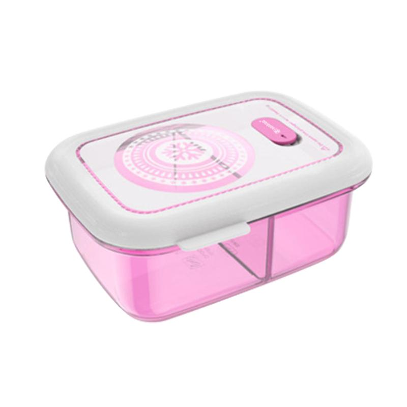 Silicone Food Container - 2 Compartment Lunchbox