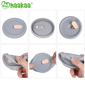 Haakaa Manual Breast Pump with Base with Silicone Lid Set