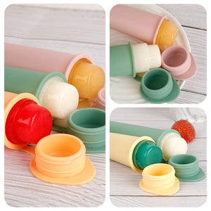 Haakaa Silicone Popsicle Molds Ice Pop Molds Homemade Popsicle Molds for Kids, 4 pcs