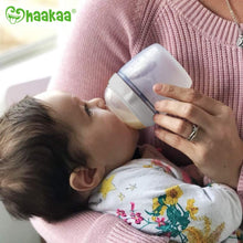 Load image into Gallery viewer, Haakaa Manual Breast Pump with Milk Bottle (4oz/100ml Pump + 160ml Milk Bottle)