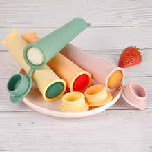 Load image into Gallery viewer, Haakaa Silicone Popsicle Molds Ice Pop Molds Homemade Popsicle Molds for Kids, 4 pcs