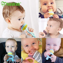 Load image into Gallery viewer, Baby Fruit Food Feeder Pacifier - Haakaa Silicone Feeder and Teether for Infant Safely Self Feeding,BPA Free Teething Relief Toy with Teether Clip&Travel Case