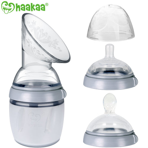 Gen. 3 Breast Pump, Baby Bottle Top and Spoon Head Combo (160ml)