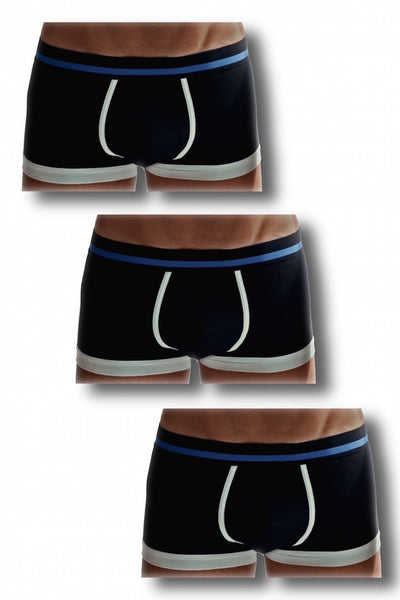 3 PACK Classic Black Boxer Briefs