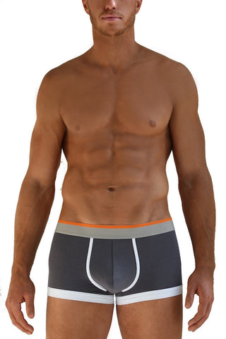 Gray & Orange Boxer Briefs