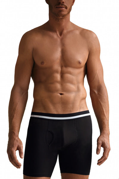 Athletic Black Boxer Briefs