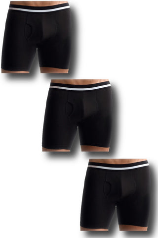 3 PACK Athletic Black Boxer Brief