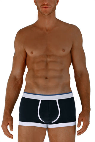 Navy & White Boxer Briefs