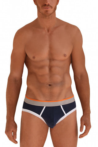 Navy & Orange Briefs