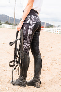Winter Riding tights - SNAKESKIN