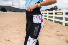 Load image into Gallery viewer, Summer Riding Tights - White Unicorn