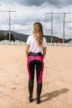 Load image into Gallery viewer, Summer Riding Tights - Pink Leopard Print
