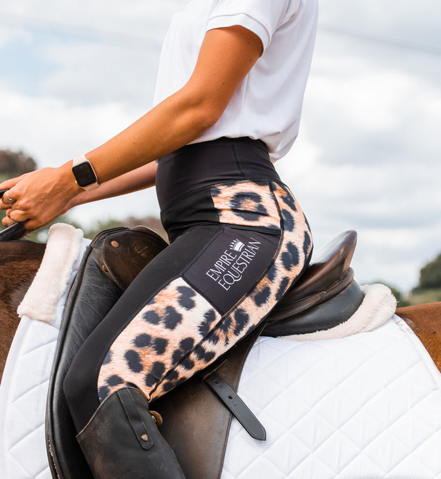 Summer Riding Tights - LEOPARD PRINT