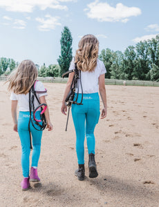 Children's Lined Riding Tights - MINT