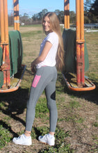 Load image into Gallery viewer, Winter Riding Tights - GREY & BABY PINK