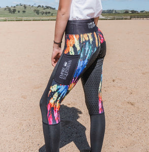 Summer Riding Tights - TIE DYED