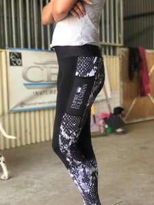 Summer Riding Tights - SNAKESKIN