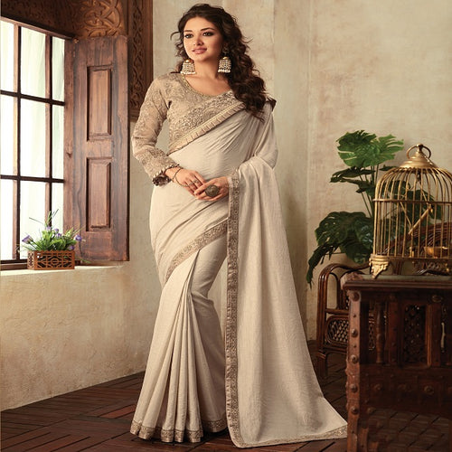 Designer Soft Silk Saree With Embroidery Border And Net