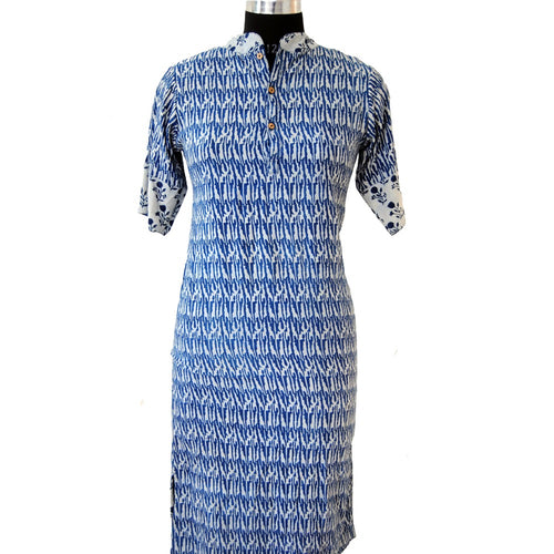 Hand block printed cotton indian summer ladies blouse daily wear kurti