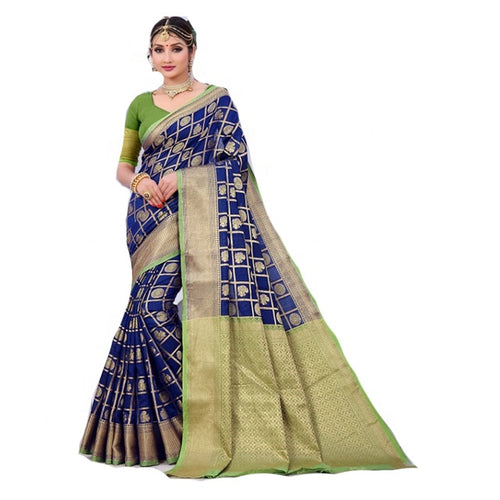Indian Bridal Saree / 100% Pure Silk Saree / Heavy Border Work Saree