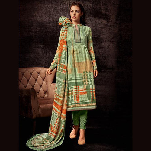 Regular Wear Designer Digital Printed Jam Silk Churidar Suits Collection