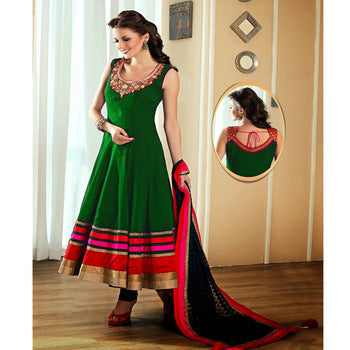 Women's Colorful Indian Designer Banglori Satin Silk Anarkali Suit