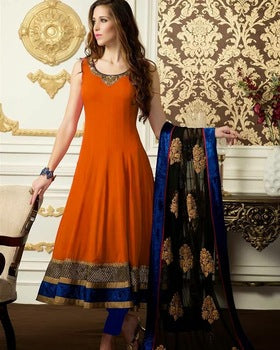 Women's Indian Designer Georgette Silk Anarkali Suit